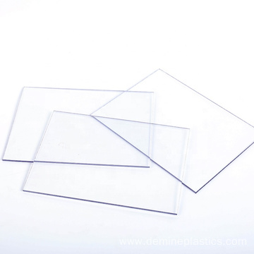Clear polycarbonate sheet construction curtain wall