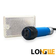 LONGWE M18 2m Optical Sensor Retro-Reflective Photo electric Proximity Switch PE18 for Fiber Production