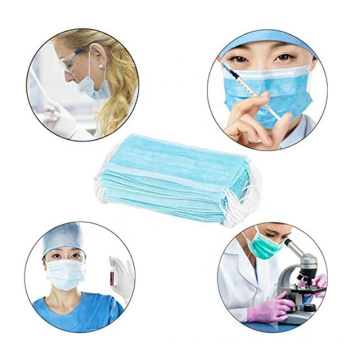 Single Use Disposable Face Masks with Earloops