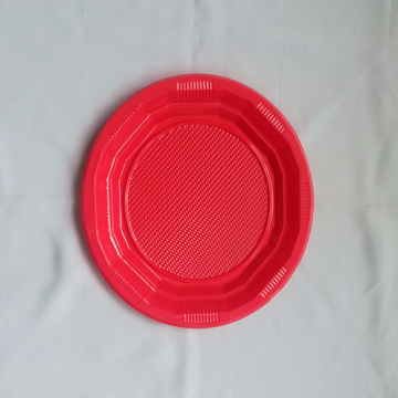 Wholesale Red PP Plastic Round Plate