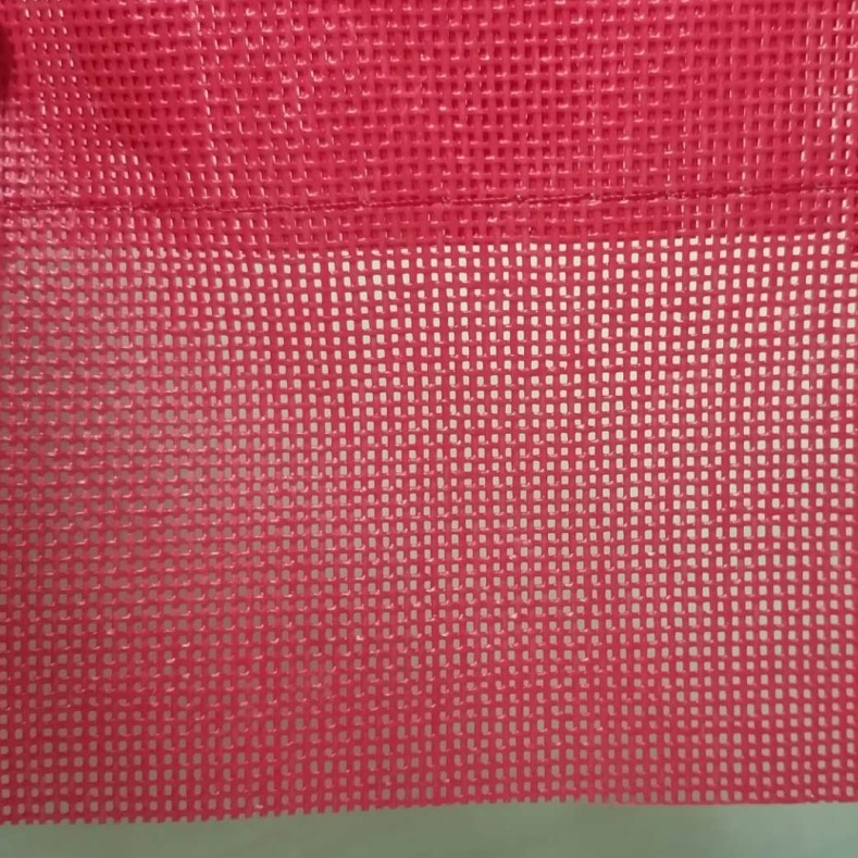 red pvc safety net
