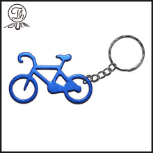 Blue Bike and Bicycle metallic keychains