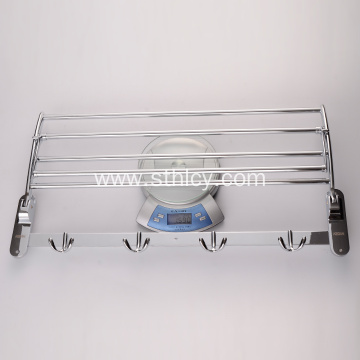 New Stainless Steel Bend Hook Folding Towel Frame