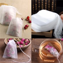 New Teabags 100Pcs/Lot 5-5.5 x 7CM Empty Tea Bags With String Heal Seal Filter Paper for Herb Loose Tea