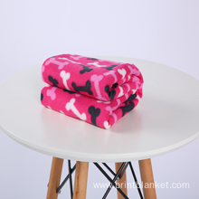 factory production  printed plush throw pet blanket