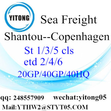 International shipping service from Shantou to Copenhagen