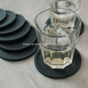 Custom logo silicon rubber coaster holder for cup