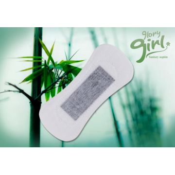 Disposable women panty liner with bamboo core