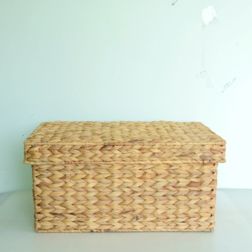 square nature water hyacinth storage trunk