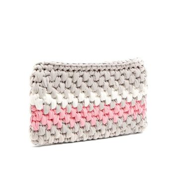 Colorful Stripe Crochet Bag For Walker