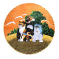 Circle Cabana Pet Beach Towel