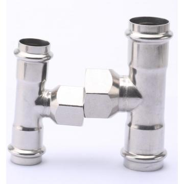 Stainless Steel Single Press Pipe Fitting Tee
