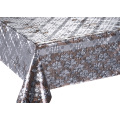 Double Face Silver Gold Emboss Printed Tablecloth