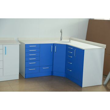 Dental side cabinet with sink