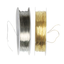 1 Roll of 22 Meters Iron Wire Cord Jewelry Making Findings for DIY Bridal Headpiece 0.3mm