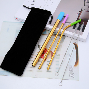 Food Grade Gold Reusable Stainless Steel Drinking Straw