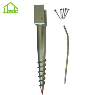 Hot dip galvanized ground screw for wooden house
