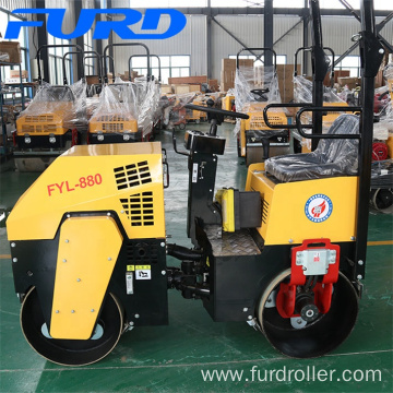 Gasoline Engine Mini 1 Ton  Road Roller Compactor for Sale
