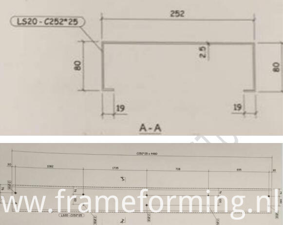 C profile drawing C channel