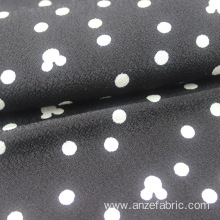 White Dot Printed Single Jersey Knit Fabric
