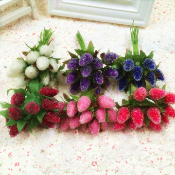 10pcs Artificial Glass Berries Fruit Red Cherry Plastic Fruits For Home Wedding Dekoration Fake Strawberry Mulberry Flower