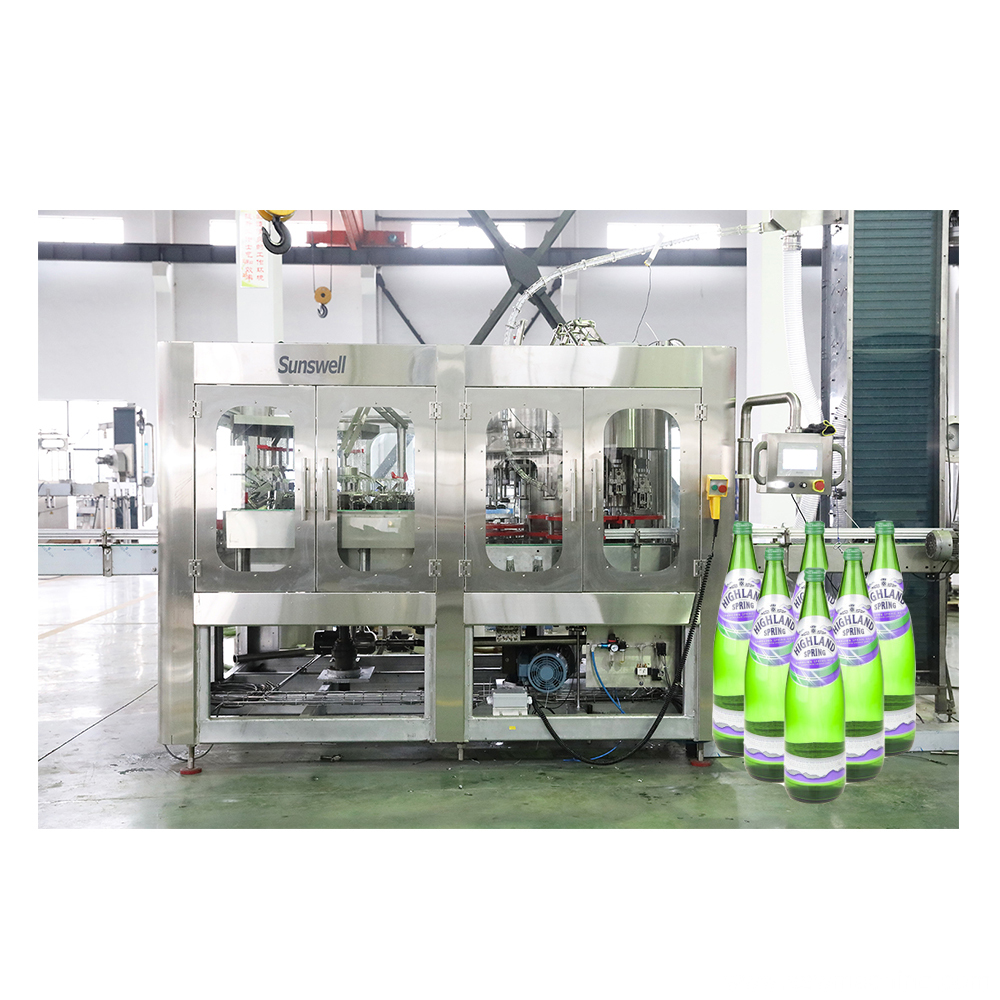 Glass Bottle Filling Sealing Packaging Machine