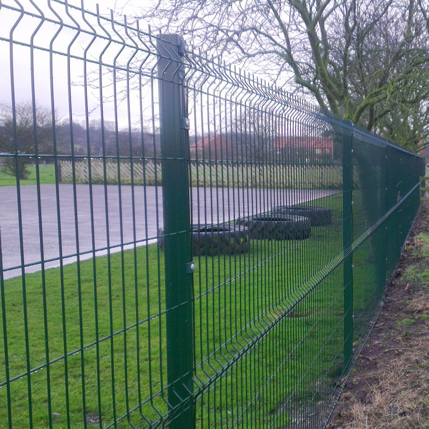 3D PVC coated welded wire mesh fence panels