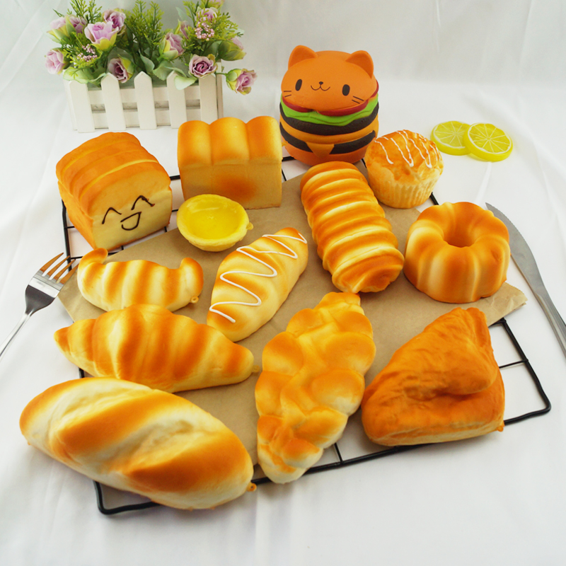 Kids Kitchen Toy Cakes Doughnuts Simulation Model Artificial Fake Bread Ornaments Cake Bakery Craft Photography DIY Decor Food