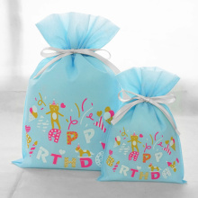 Blue Non-woven Gift Packaging Bag For Boy