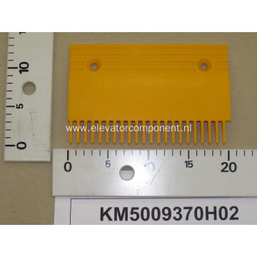Yellow Plastic Comb Plate for KONE Escalators KM5009370H02