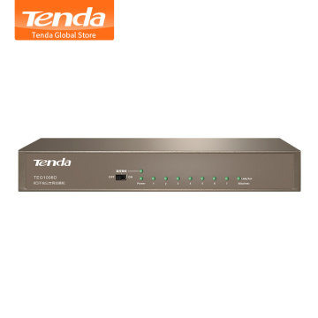 Tenda TEG1008D 8 Port 10/100/1000Mbps Gigabit Ethernet Network Switch, 16Gbps Bandwidth, 4KV lightning Protection, Plug and Play