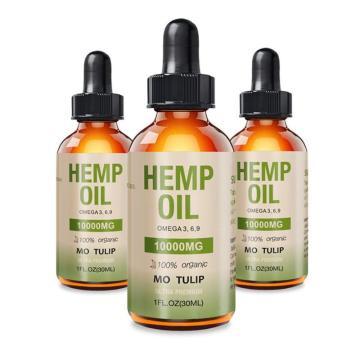 10000mg Hemp Oil CBD Organic Essential Oil Hemp Seed Oil Herbal Drops 30ml Body Relieve Stress Oil Skin Care Help Sleep
