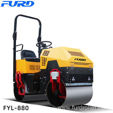 Steering Flexible Double Drum Vibratory Road Roller 1000kg