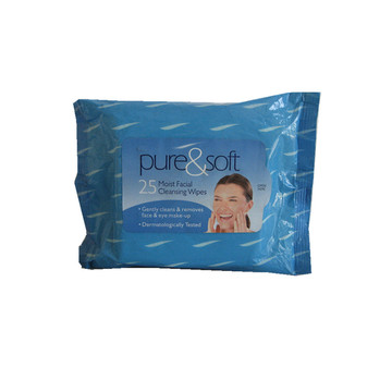Spunlace Soft Moist Facial Cleaning Wipes
