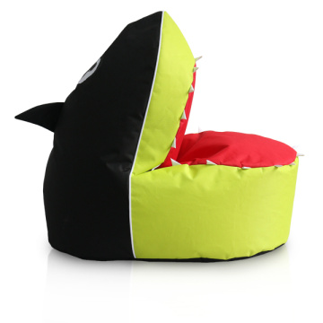 Fashion lime color bean bag shark for kids