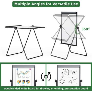 Magnetic Adjustable 24''x36'' U Stand Flipchart Easel