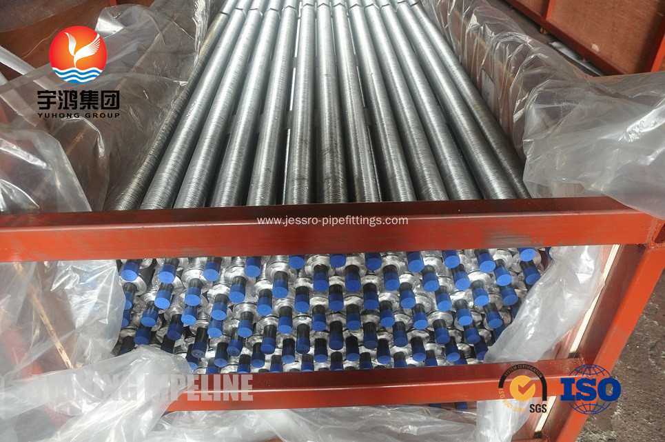 SA210 GR A / C Heat Exchanger Fin Tube Carbon Steel Bolier Tube G Base Radial Cooling