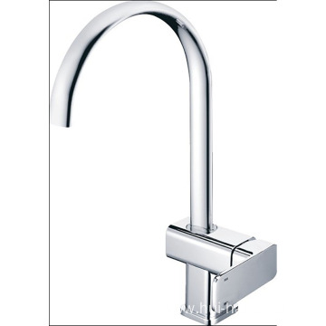 Chrome Handle/Hole Kitchen Sink Faucet