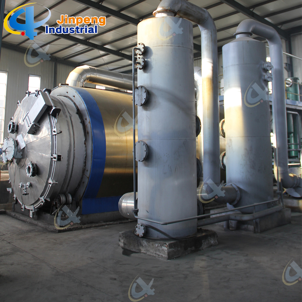 City Garbage Pyrolysis Plant Household Waste To Oil Equipment For Generator