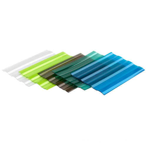 Coloful  Polycarbonate Corrugated Roofing Sheet