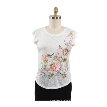 Women Summer T-shirt Casual O Neck
