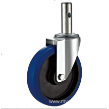 125mm  threaded stem   European industrial rubber  swivel caster without  brake