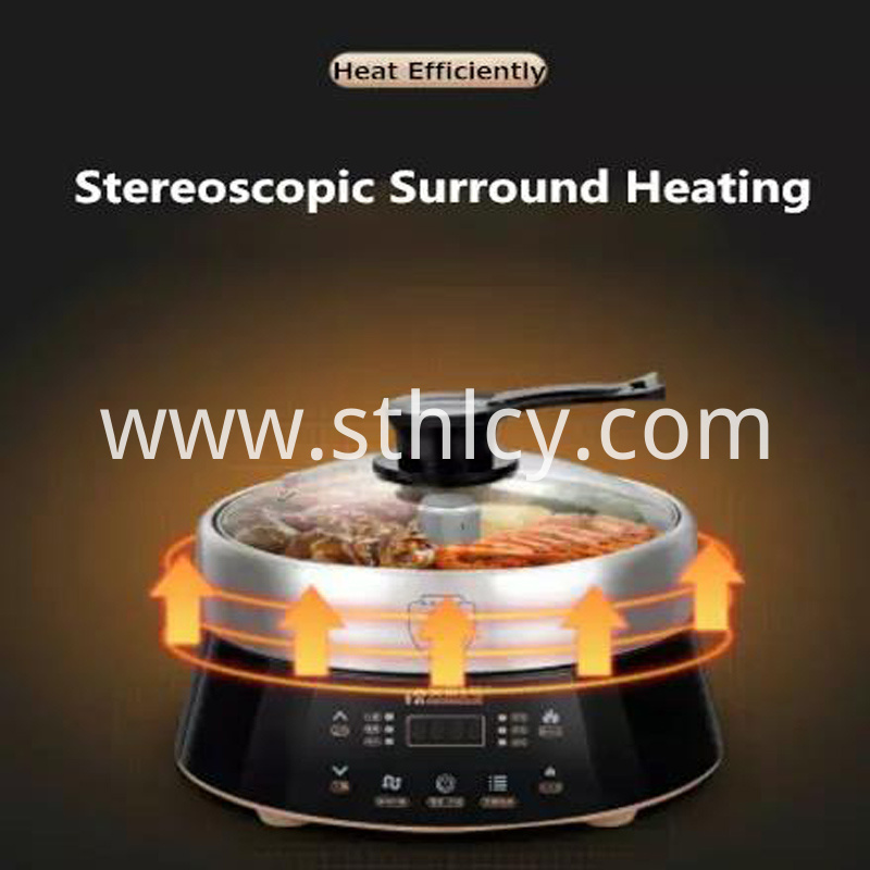304 Glass Cover Stainless Steel Electric Hot Pot