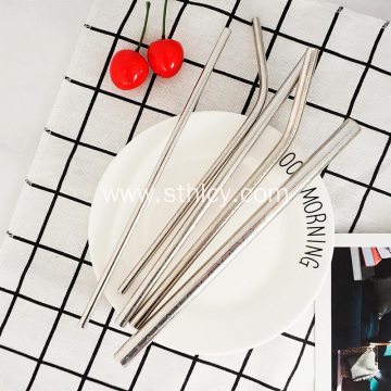 Creative Geometric Pattern 304 Stainless Steel Straw