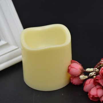 Wave top plastic shell ivory LED candles