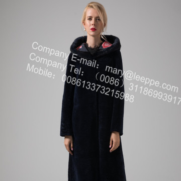 Reversible Long Women Merino Shearling Coats