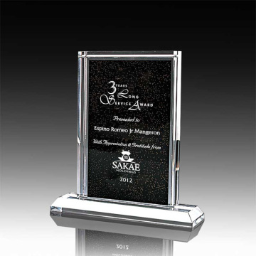 Custom corporate service awards trophies for sports