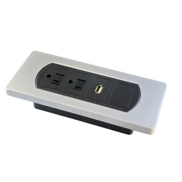 US Dual Power Outlets With Single USB Ports