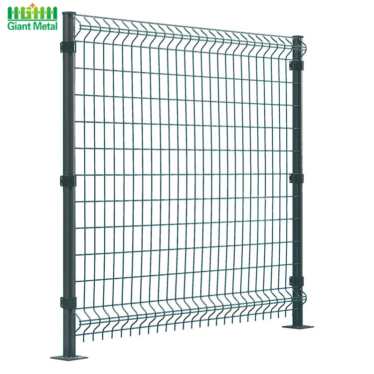 Metal Decorative Single 3D Curved Wire Mesh Fence