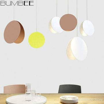 Nordic Dining Room Chandelier Lights Pistachio Color Bedside Lamp Modern LED Creative Living Room Lights Hanging Industrial Lamp
